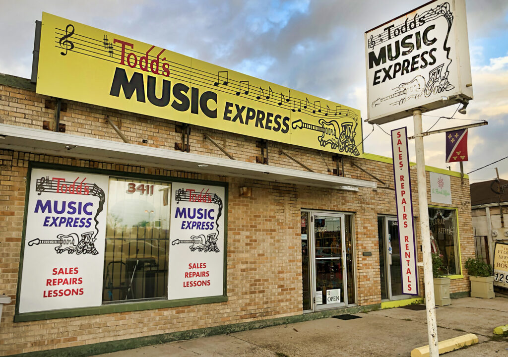 todd's music express - old metairie photo - nola places